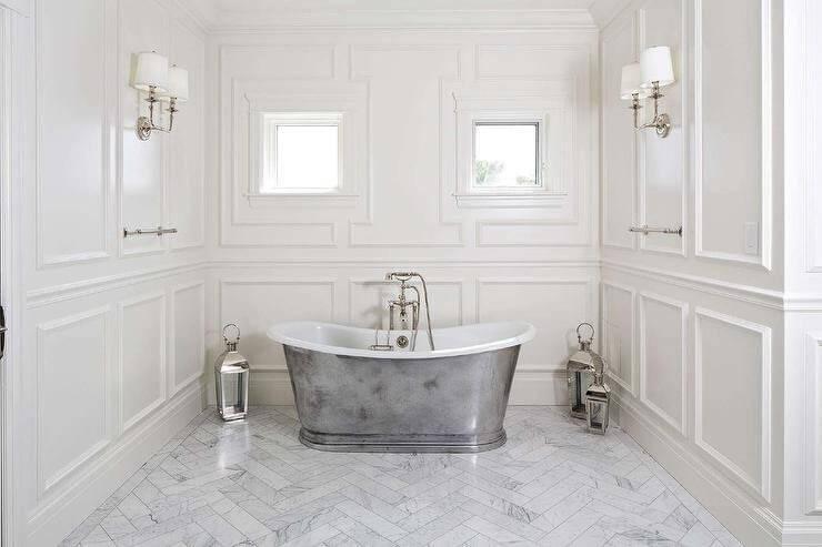 Applied Bathroom Wall Molding