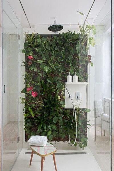 Greenery Styled Bathroom Wall