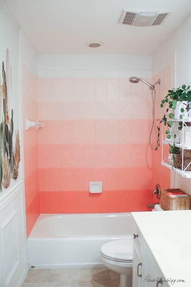 Ombre Bathroom Wall Effect