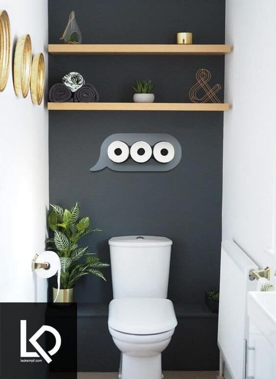 Bring To Your Half Bathroom A Familiar Iconic Shaped Toilet Paper Storage