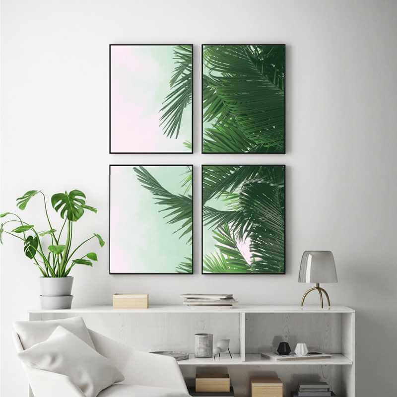 Create A Wall Of Green Space With Pictures Of Nature