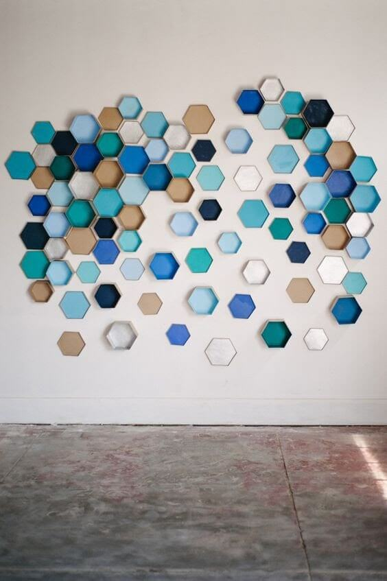 Geometric Hexagon Wall Art
