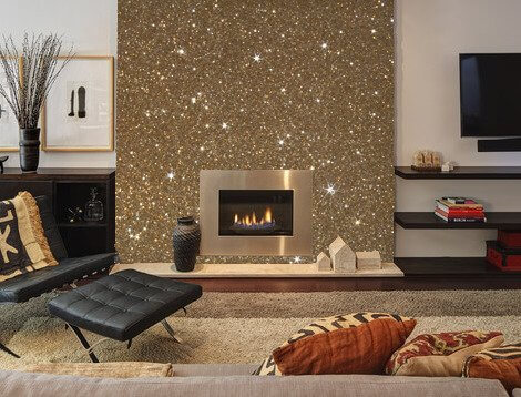 Gold Sparkle Accent Wall