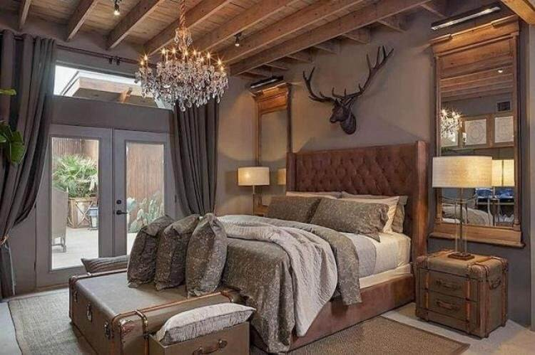 Deer Head Wall Art Make Some Chic Above Bed