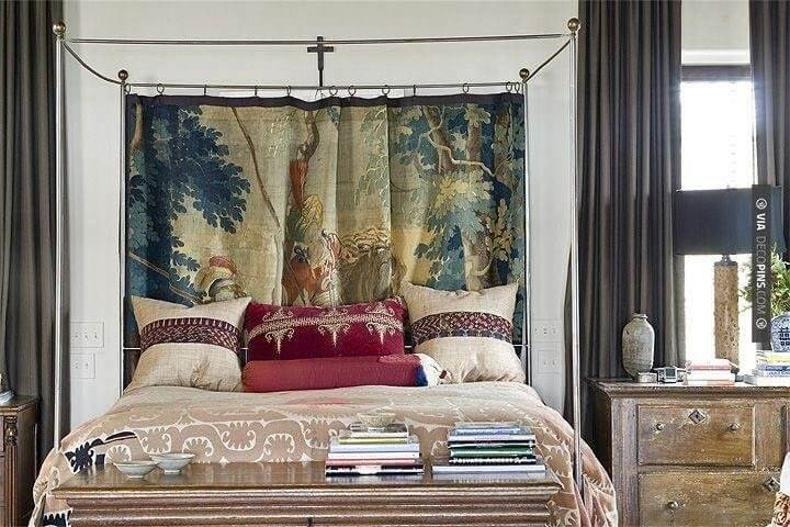 Decorating A Tapestry Behind Bed