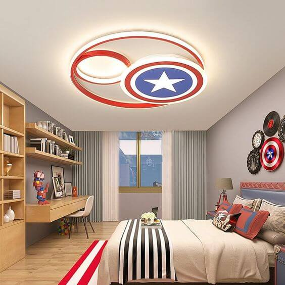 Captain America's Shield Ceiling Light