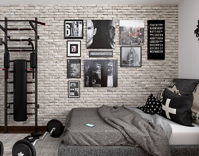 Turn Your Teen Boy's Room Into a Work-Out Space