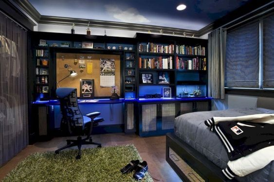 Combined Bedroom and Study for Teenage Boys