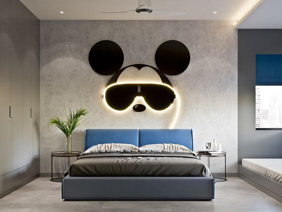 Mickey Mouse Suited for a Teenage Man Cave