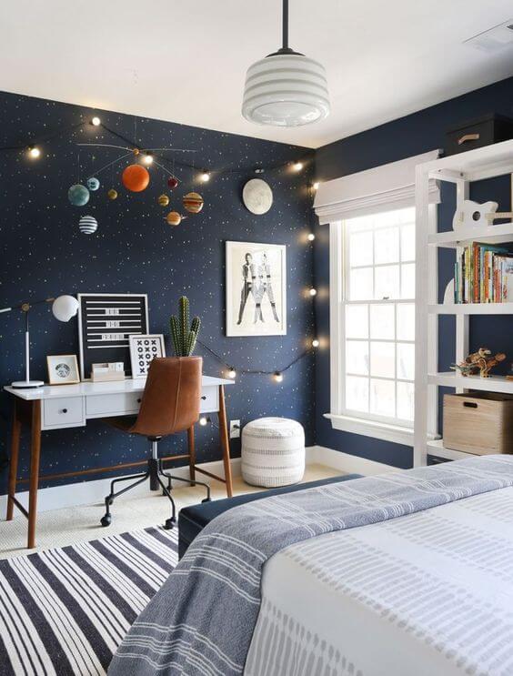 Celestial-Inspired Teenage Guys Room Design