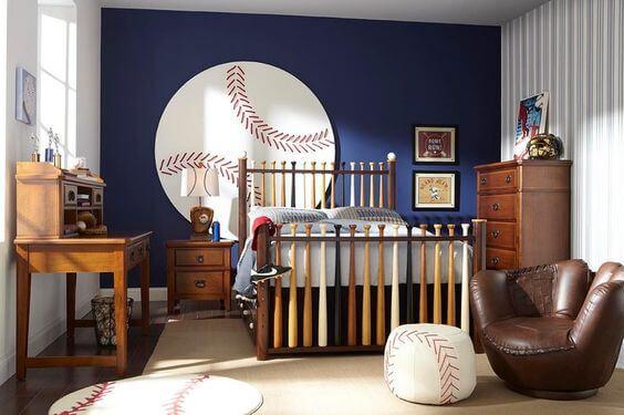 Baseball Room Designs for Teenage Boys