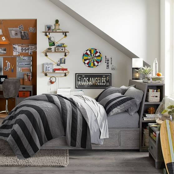 Teenage Boy's Room with a Dartboard