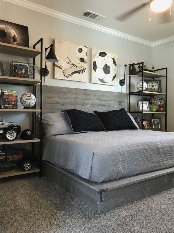 Sports-Themed Bedroom for the Athletic Teenage Boy