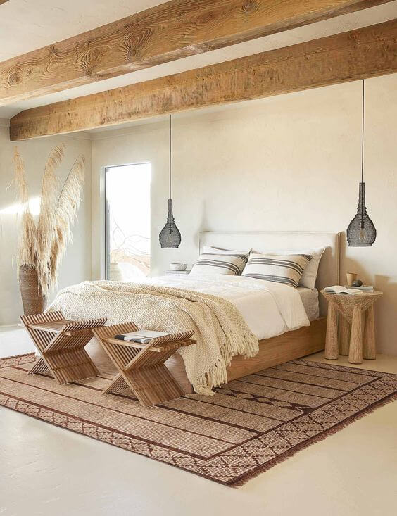 Natural Textures in Bedroom