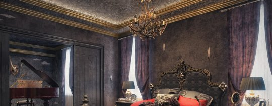 gothic-style bedroom