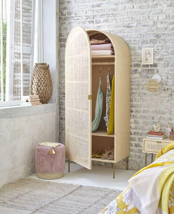 Place A Cute Low Stool in Bedroom