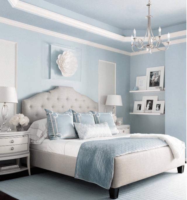Pale Blue Bedroom