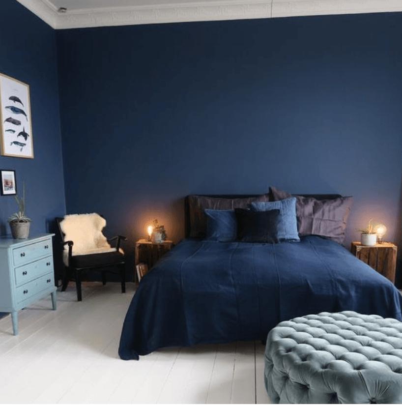 10.Dark Blue for Your Bedroom