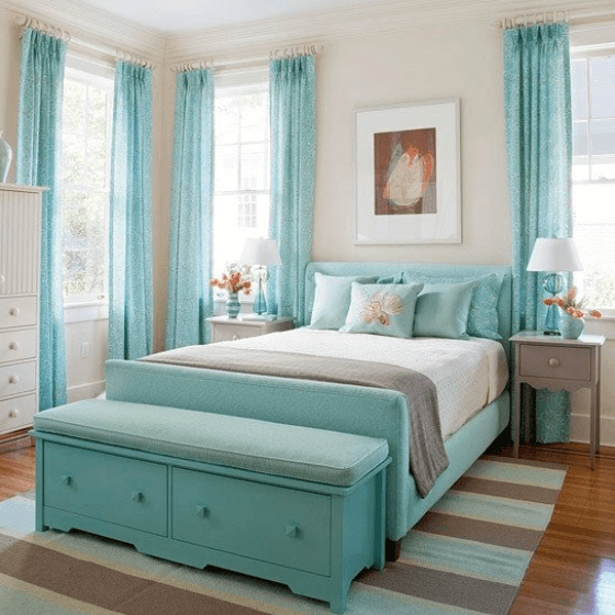 The Shade of Turquoise Expresses The Tropical Flair