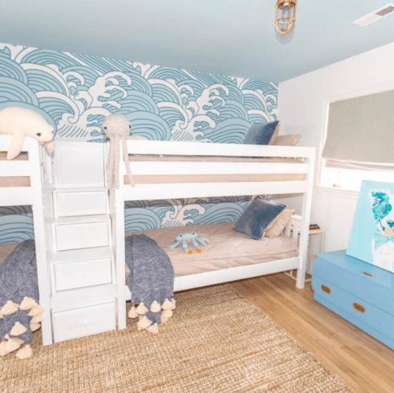 Watery Blue Bedroom Ideas