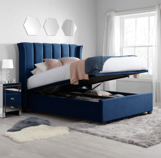 Midnight Blue with Modern Bed