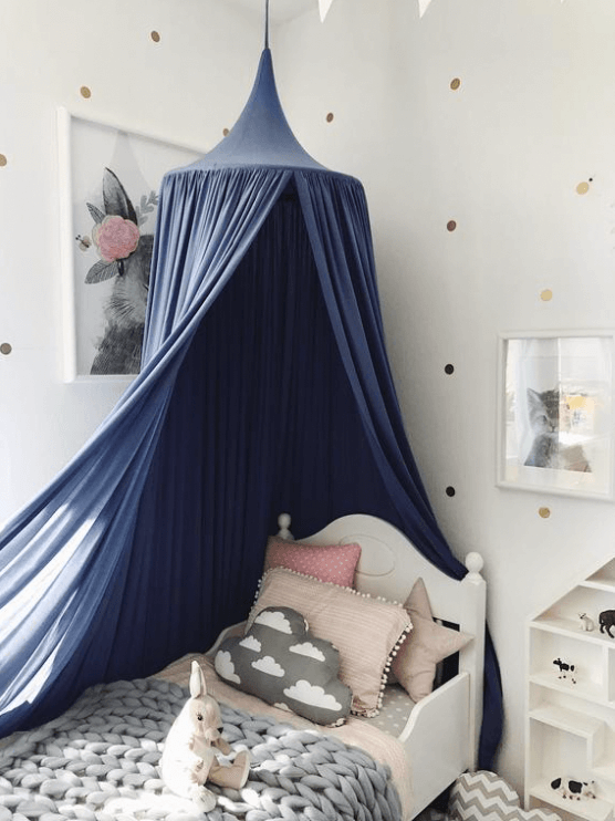 Pretty Blue Canopy Bed