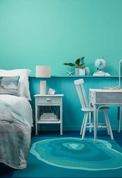 Teal Blue Bedroom Ideas