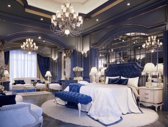 Royal Blue Bedroom for