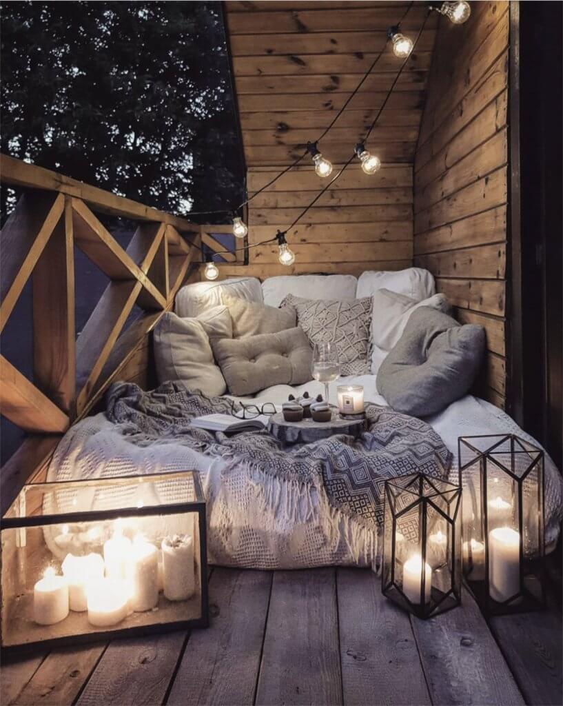A Romantic Bedroom Outdoor Balcony