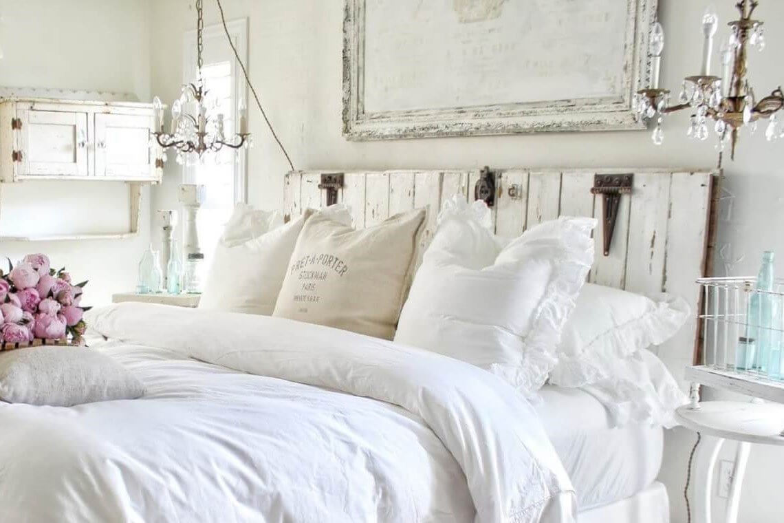 a white shabby chic bedroom