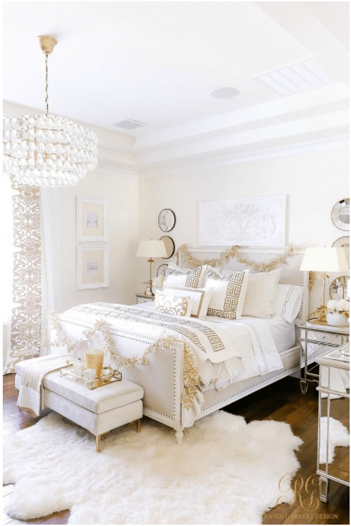 All-White Bedding for A Clean Look