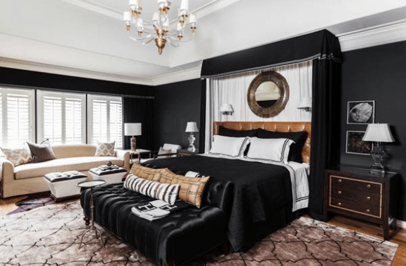 Shabby Chic with Black and White Pattern