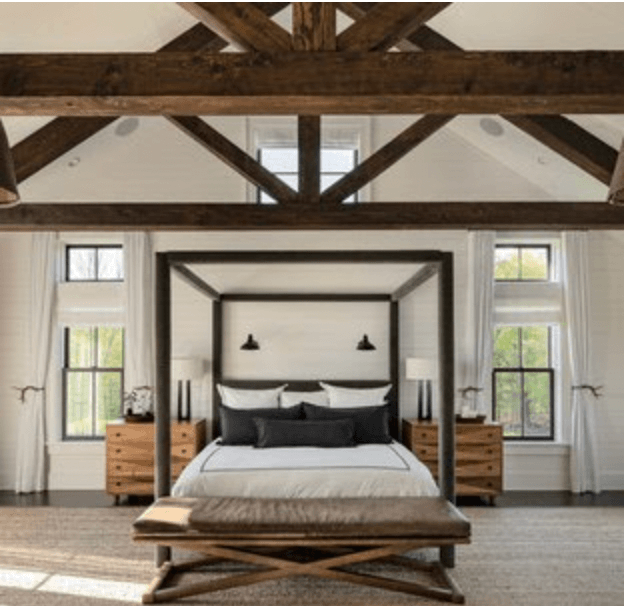 Black and White Warm Wood for Your Bedroom