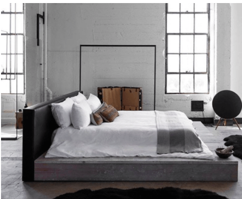 Black and White Industrial Bedroom