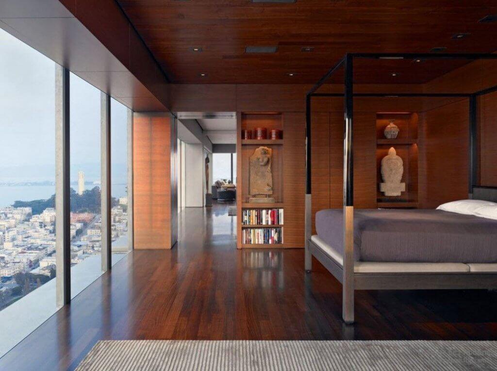 Wooden Asian Bedroom