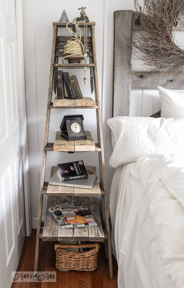 A Stepladder Beside Bed
