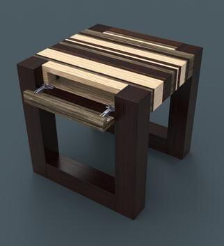 DIY nightstand with hidden compartment