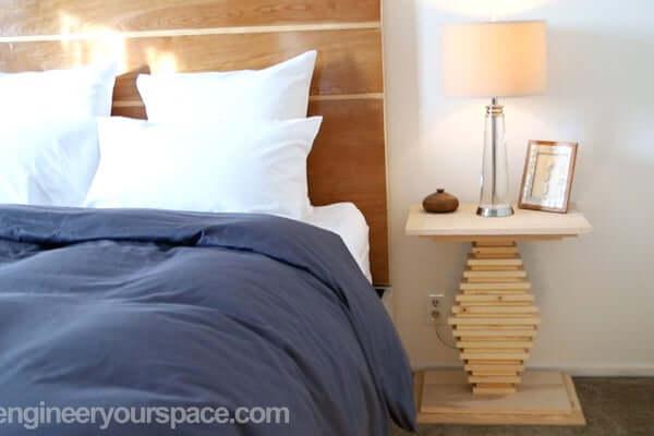 DIY Plywood Bedside Table