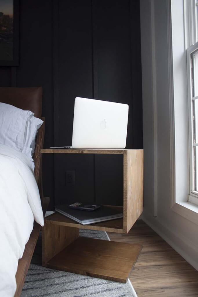 DIY project: wooden bedside table